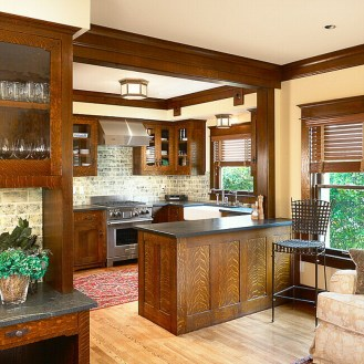 Awesome Craftsman Kitchen Design Ideas Remodel (1)