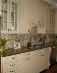 Backsplash Ideas For Cream Kitchen Cabinets (2)