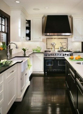 Cream Kitchen Cabinets Black Appliances
