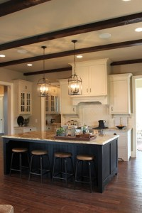 Cream Kitchen Cabinets Dark Floors