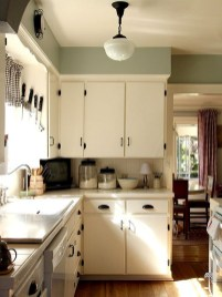 Cream Kitchen Cabinets White Appliances