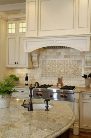 Cream Kitchen Cabinets With Granite Countertops