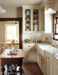 Cream Kitchen Cabinets With Stainless Steel Appliances On A Budget