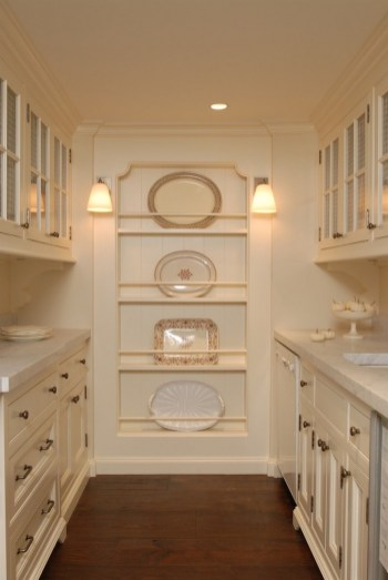 Cream Kitchen Cabinets With White Appliances Wood Floors