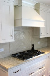 French Country Kitchen Backsplash For Cream Kitchen Cabinets