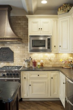 French Country Kitchen Cream Cabinets