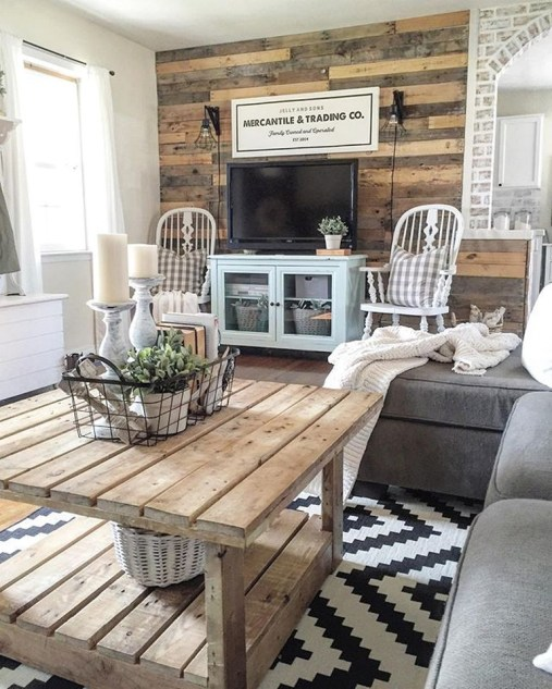 Gorgeous Farmhouse Living Room Decor Ideas And Designs (15)