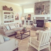 Gorgeous Farmhouse Living Room Decor Ideas And Designs (17)