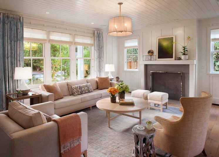 Gorgeous Farmhouse Living Room Decor Ideas And Designs (26)