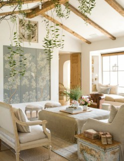 Gorgeous Farmhouse Living Room Decor Ideas And Designs (36)