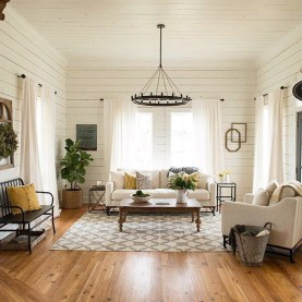 Gorgeous Farmhouse Living Room Decor Ideas And Designs (8)