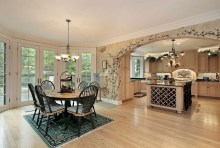 Kitchen Cabinets Traditional Antique French Country Kitchen And Dining Room Wood Hood Island