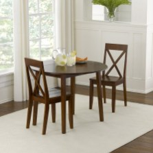 Brown Small Kitchen Tables With Two Chairs