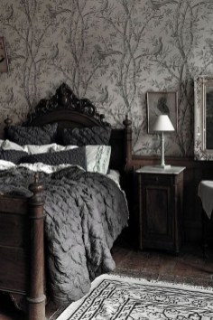Dark Grey Bedrooms Decorating Design Ideas (24)