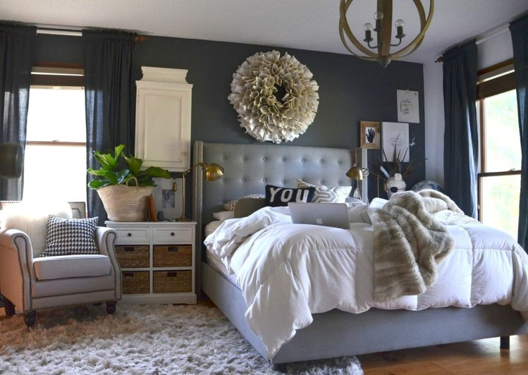 50 Gorgeous Dark Grey Bedrooms Decorating Design Ideas