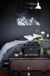 Dark Grey Bedrooms Decorating Design Ideas (46)