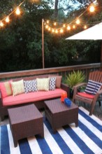 Deck Decorating With String Lights