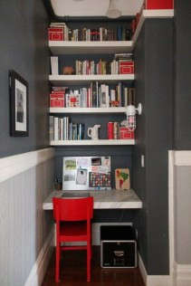 Home Office Design Ideas For Small Spaces Red Chair
