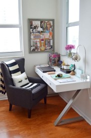 Home Office Ideas For Her With Wood Floor