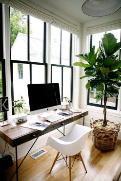Home Office Ideas In Small Space Wood Floors