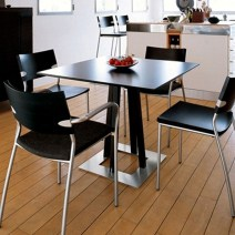 Minimalist Kitchen Design Black Small Dining Tables Sets and Chairs