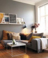 Simple Apartment Living Room Decorating Ideas Grey Theme Wood Floors