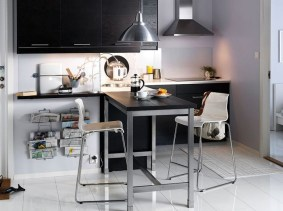 Small Black Kitchen Tables With Bar Stools