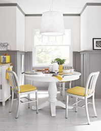 Small Circular Kitchen Table And Chairs Yellow