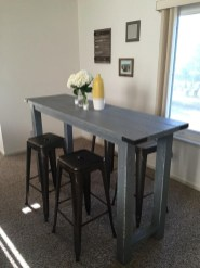 Small Kitchen Table And Black Bench Set