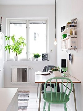 Small Rectangular Kitchen Tables and Green Chairs For Two