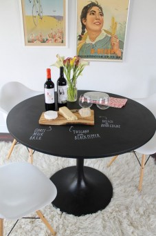 Small Round Black Kitchen Table And Three Chairs