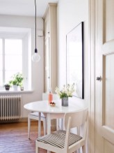Small Round Kitchen Table And Chairs With Flower Vase
