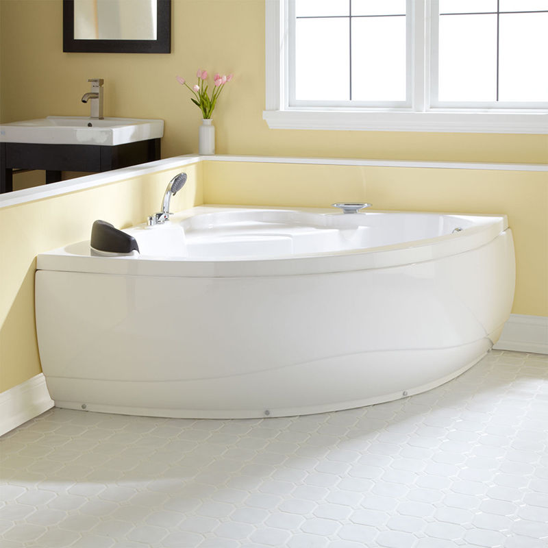 corner soaking tubs for small bathrooms  Small Corner