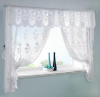 White Lace Bathroom Window Curtains - Home The Honoroak
