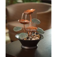 Indoor Tabletop Fountains with Water Lily Design | Decor ...