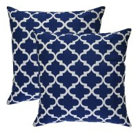 Decorative Blue and White Pillows Covers for Ornamental ...