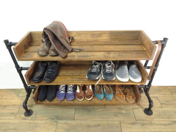 Shoe Rack from Repurposed Wood