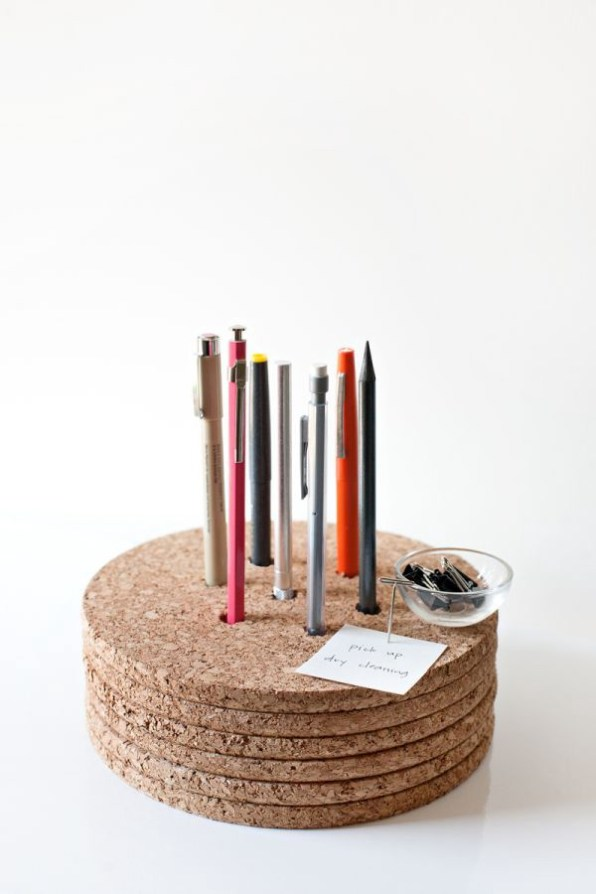 A Cork Placemat for Your Pencil's Platform