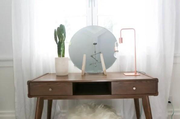 Minimalist Circle Vanity Mirror