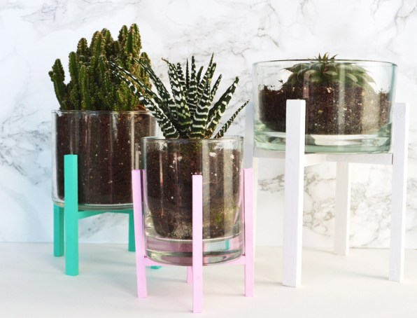 Colorful Wooden Planter Stand
