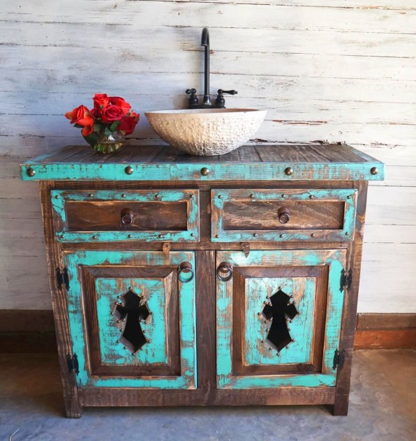 Worn Out Wood in Teal