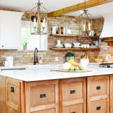 +41 To Consider For Farmhouse Kitchen Cabinets Design Ideas 9