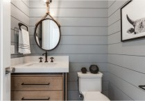 41 + Types Of Guest Bathroom Ideas Half Baths Floating Shelves 12