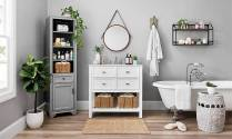 41 + Types Of Guest Bathroom Ideas Half Baths Floating Shelves 19