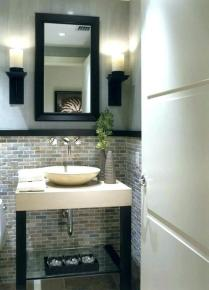 41 + Types Of Guest Bathroom Ideas Half Baths Floating Shelves 44