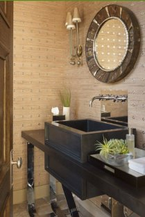 41 + Types Of Guest Bathroom Ideas Half Baths Floating Shelves 55