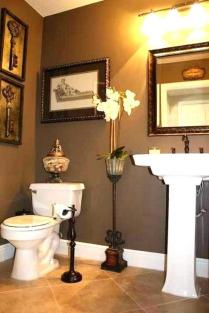 41 + Types Of Guest Bathroom Ideas Half Baths Floating Shelves 67