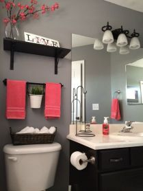 41 + Types Of Guest Bathroom Ideas Half Baths Floating Shelves 70