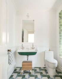 41 + Types Of Guest Bathroom Ideas Half Baths Floating Shelves 88