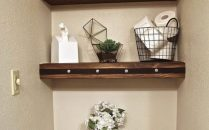 41 + Types Of Guest Bathroom Ideas Half Baths Floating Shelves 92